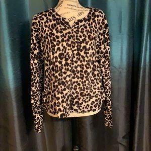 Cheetah cardigan Old Navy size XL